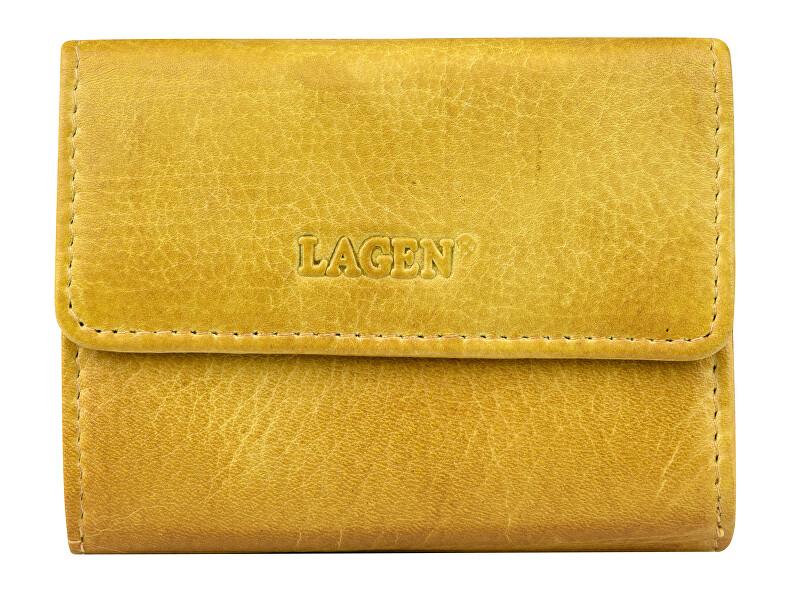 Lagen Dámska kožená peňaženka HB-10/18 Yellow