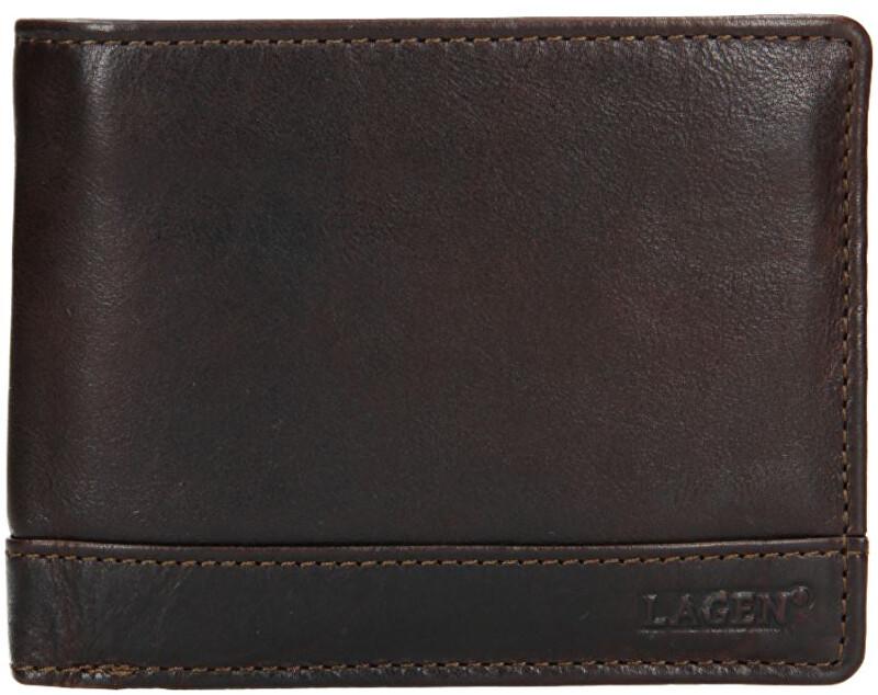 Lagen Pánska kožená peňaženka 1996/t DK-BROWN