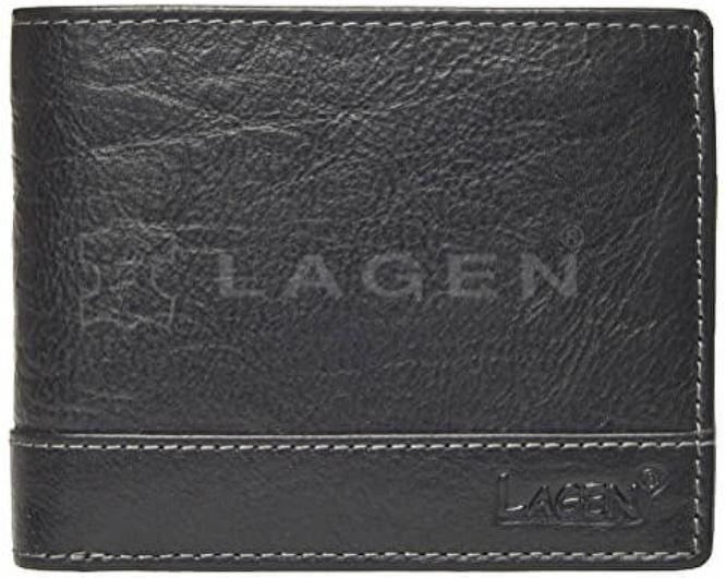 Lagen Pánska kožená peňaženka 1998/T Black