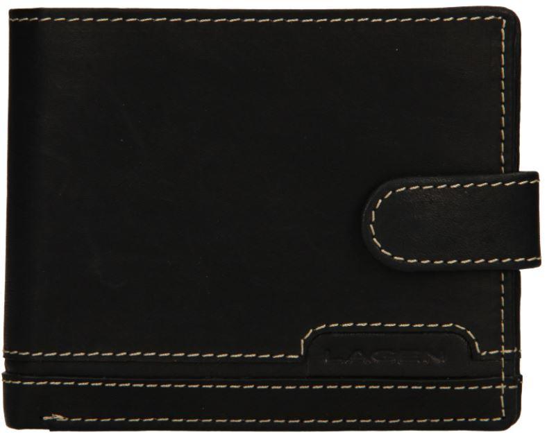 Lagen Pánska kožená peňaženka 2004 Black