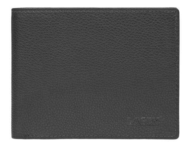 Lagen Pánska kožená peňaženka c-22 Black