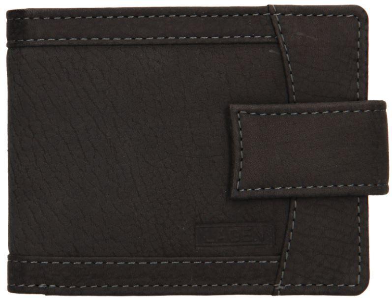 Lagen Pánska kožená peňaženka v-05 / w Black