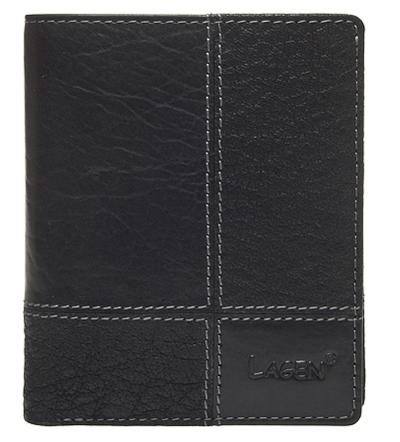 Lagen Pánska kožená peňaženka V-28/T Black