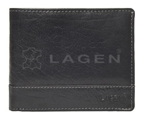 Lagen Pánska kožená peňaženka V-76/T Black