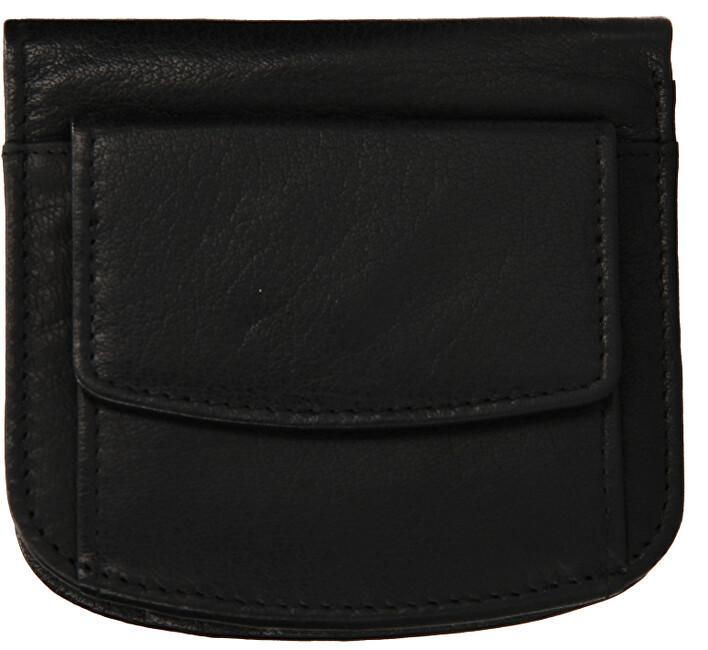 Lagen Pánska kožená mini peňaženka w-2021 Black