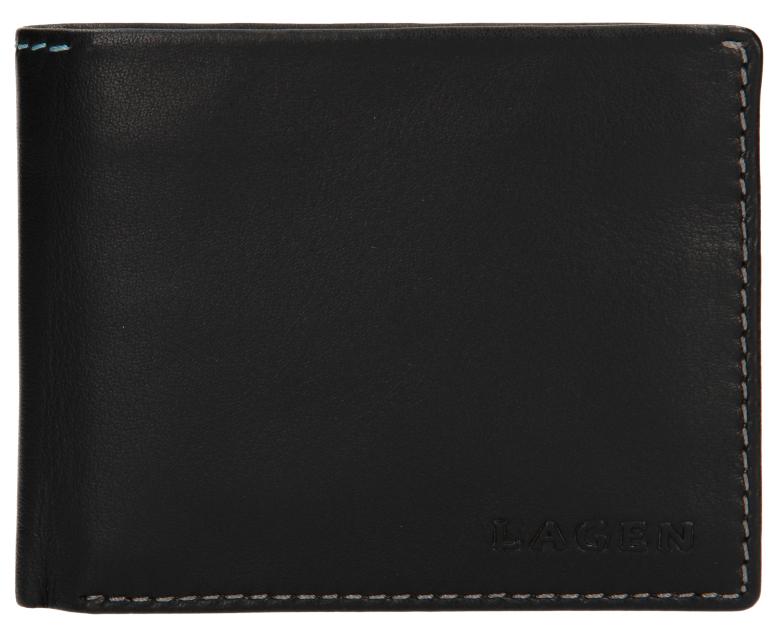 Lagen Pánska kožená peňaženka TP-802 Black