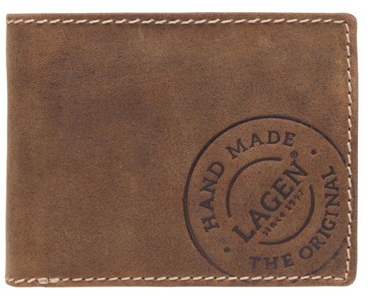 Lagen Pánska hnedá kožená peňaženka Brown 508 /C