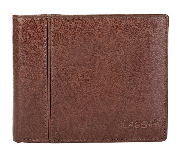 Lagen Pánska kožená peňaženka Brown PW-521-2