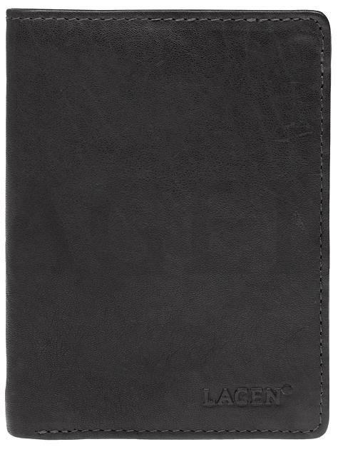 Lagen Pánska kožená peňaženka 2103 E Black