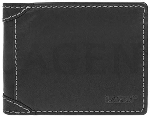 Lagen Pánska kožená peňaženka 511462 BLK