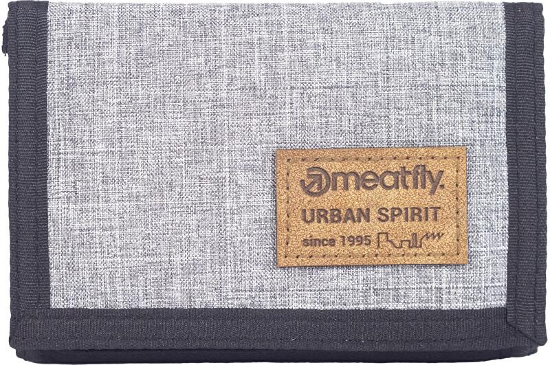 Meatfly Pánska peňaženka DEWEY Grey Heather
