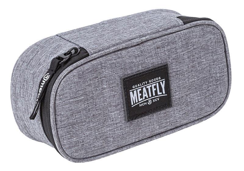 Meatfly Penál Pencil Case Heather Grey