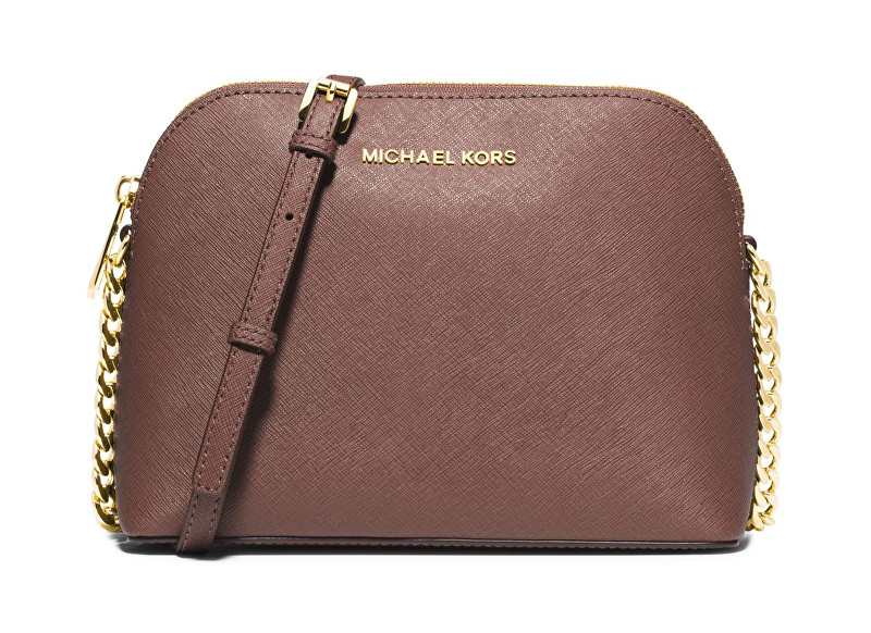 Michael Kors Elegantní crossbody kabelka Cindy Large Dome Crossbody Dusty Rose