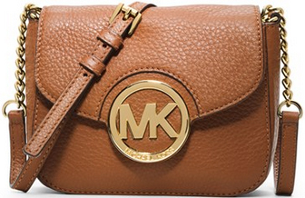Michael Kors Elegantní crossbody kabelka Small Fulton Crossbody Bag Brown 87000-1