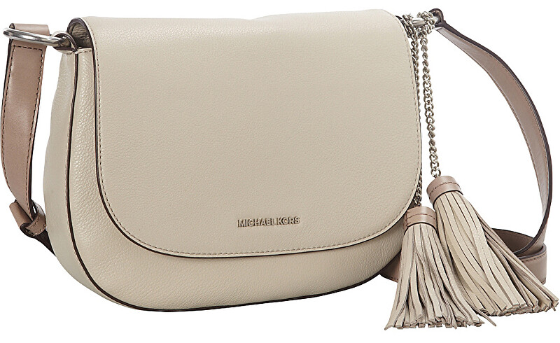 Michael Kors Elegantní kabelka Elyse Tassle Saddle Bag Cream