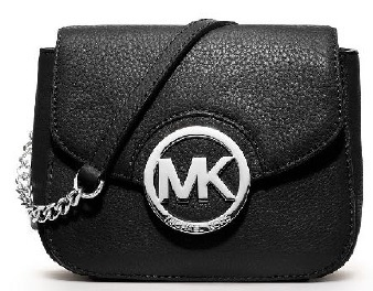 Michael Kors Elegantní kabelka Leather chain crossbody Black
