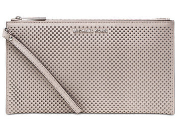 Michael Kors Elegantní pouzdro Jet Set Travel Large Zip Clutch Cement