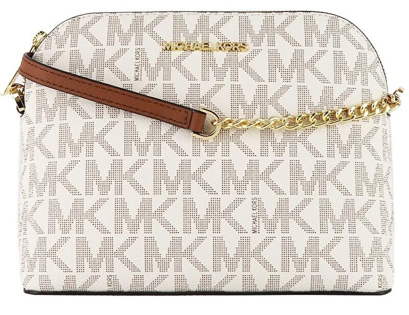 Michael Kors Dámska kožená crossbody kabelka 193599252315 Vanilla