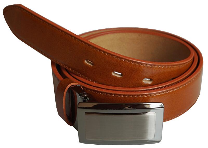 N.Ties Pánsky kožený opasok OKPS003 cognac 120 cm