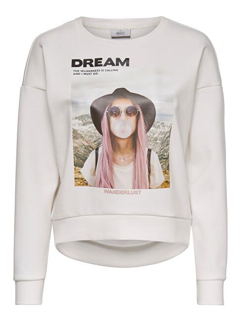 ONLY Dámska mikina ONLZIGGY L / S O-NECK BOX SWT Cloud Dancer DREAM XL