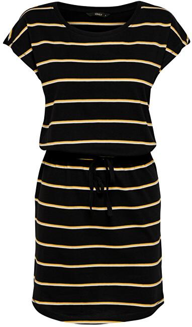 ONLY Dámske šaty ONLMAY 15153021 Black DOUBLE Yolka YELLOW/CLOUD DANCER L