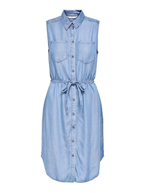 ONLY Dámske šaty ONLCLAIRE 15229354 Light Blue Denim XS