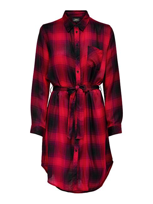 ONLY Dámske šaty ONLRILEY LIFE 15238033 Mineral Red XL
