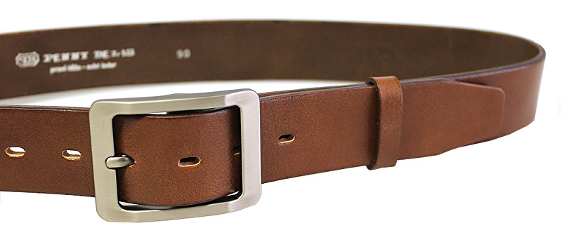 Penny Belts Dámsky kožený opasok 15948 Hnedý 100 cm