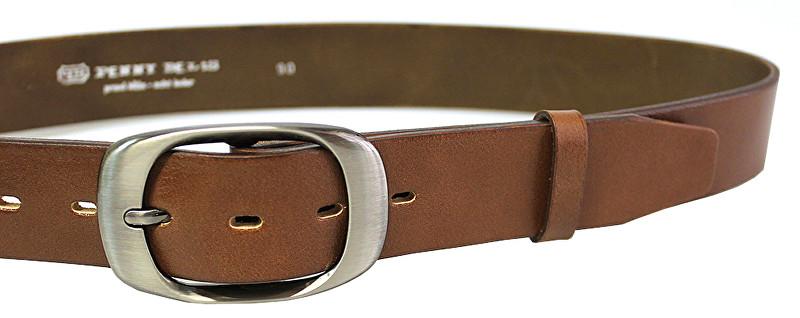 Penny Belts Dámsky kožený opasok 72NKS-48 Hnedý 85 cm