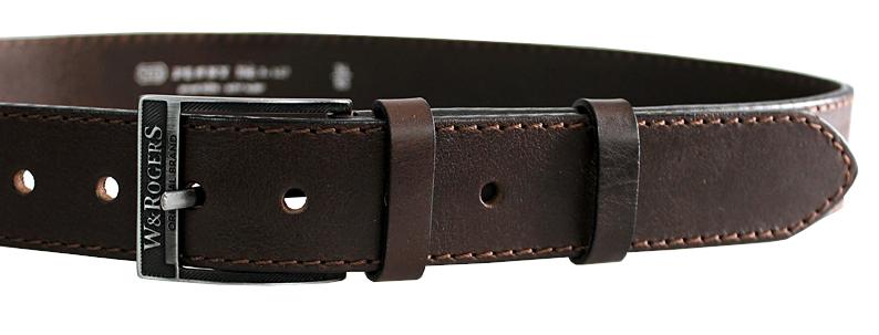 Penny Belts Pánsky kožený opasok 17-1-40 Hnedý 100 cm