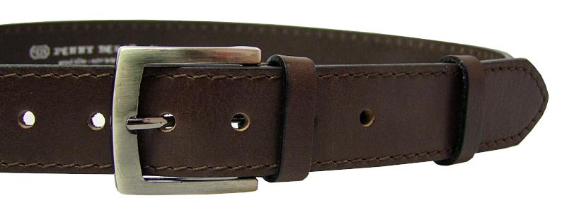 Penny Belts Pánsky kožený opasok 25-1-40 Hnedý 100 cm