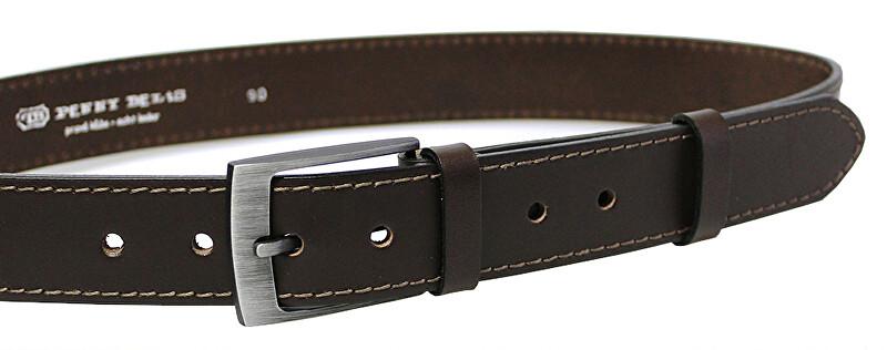 Penny Belts Pánsky kožený opasok 35-1-40 Tmavo hnedý 100 cm