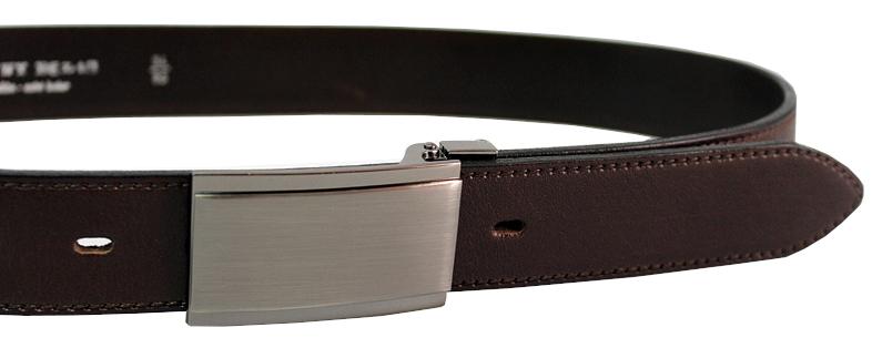 Penny Belts Pánsky kožený spoločenský opasok 35-020-4PS-40 Hnedý 120 cm