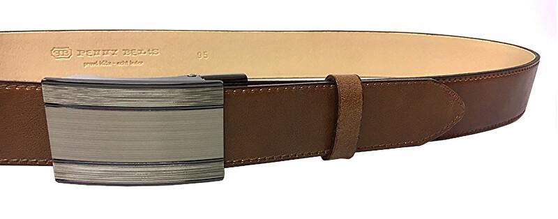 Penny Belts Pánsky kožený spoločenský opasok 35-020-A7 Hnedý 100 cm