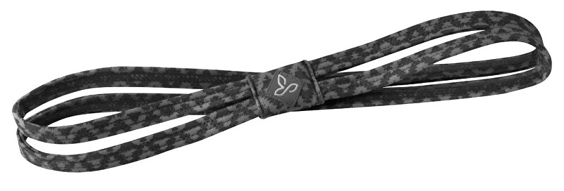 Prana Čelenka Printed Double Headband Charcoal Compass
