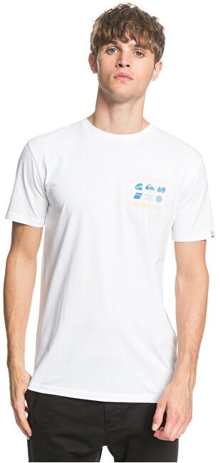 Quiksilver Pánske tričko Slow Burn Ss White EQYZT05759-WBB0 S