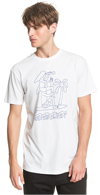 Quiksilver Pánske tričko Turning Head s Ss White EQYZT05820-WBB0 S