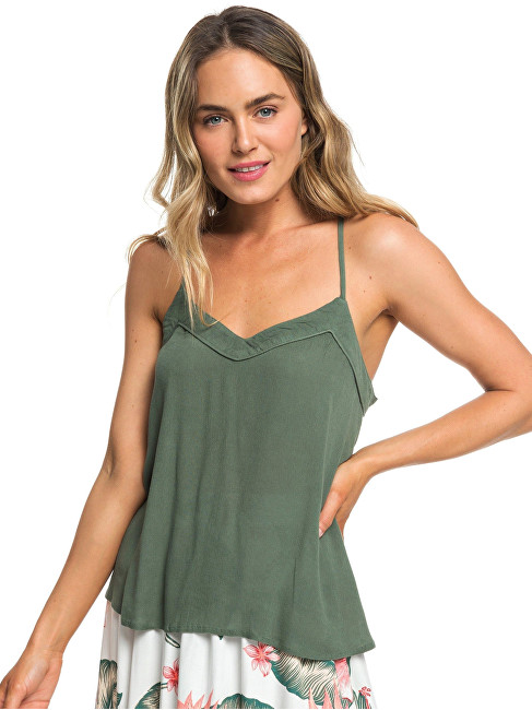 Roxy Dámske tielko Off We Go Duck Green ERJWT03283-GPL0 S