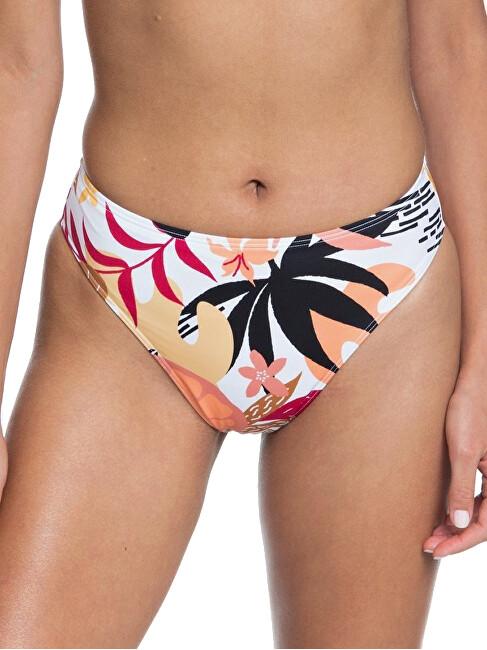 Roxy Dámske plavkové nohavičky Pop Surf Hg Lg Md WST Bright White Nirantara ERJX403911-XWKM S