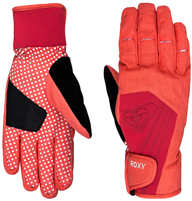 Roxy Rukavice Tyia Glove Hot Coral WTWSG044-MKZ0