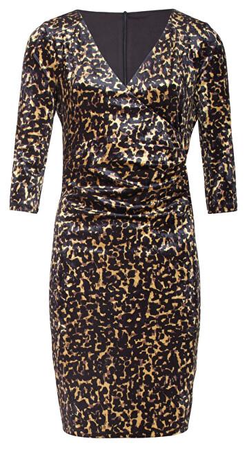 Smashed Lemon Dámske šaty 19855 Gold/Black S