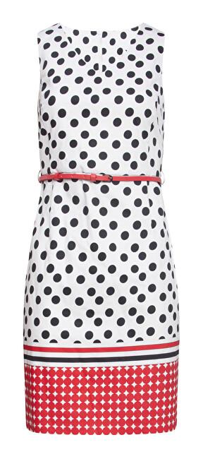 Smashed Lemon Dámske šaty 20026 Black - White / Red L