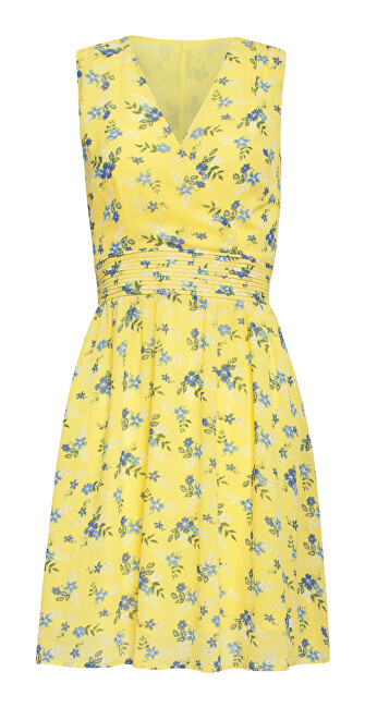 Smashed Lemon Dámske šaty 20069 Yellow / L. Blue XL