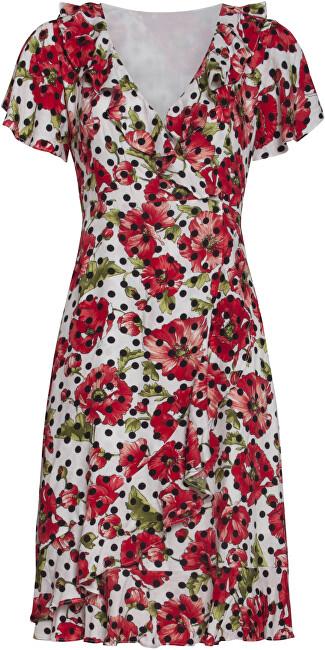 Smashed Lemon Dámske šaty 20118 Black - White / Red L