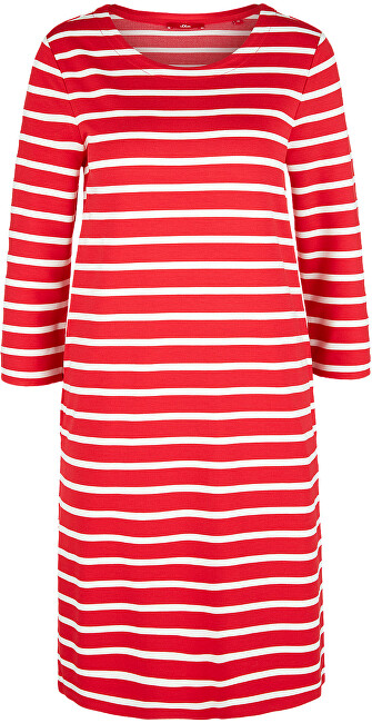 s.Oliver Dámske šaty 14.003.82.2968 .31G9 Vibrant coral stripes 36