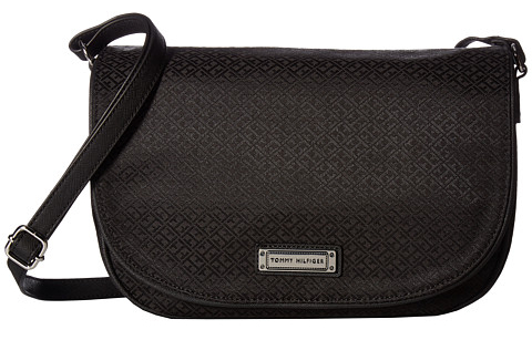Tommy Hilfiger Dámská crossbody kabelka Womens Josephine Large Saddle Bag Black