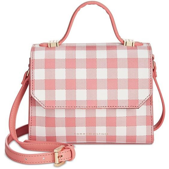 Tommy Hilfiger Elegantní kabelka Gingham Top Handle Crossbody