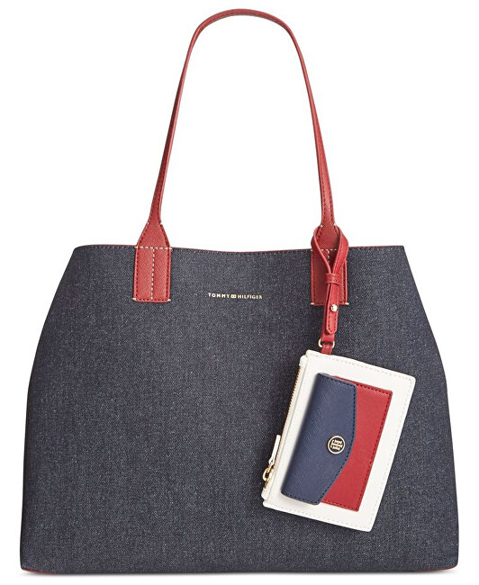 Tommy Hilfiger Elegantní kabelka TH Reversible Double-Sided Large Denim Tote