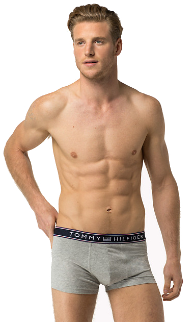 Tommy Hilfiger Pánské boxerky Stripe Cotton Low Rise Trunk 1U87906050-4 Grey Heather S