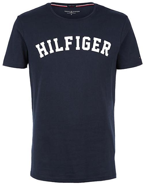 Fotografie Tommy Hilfiger Pánské Logo Tričko - modré Velikost produktu: M Tommy Hilfiger